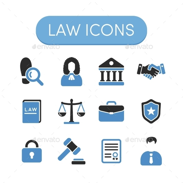 GraphicRiver Law Icons 11844120