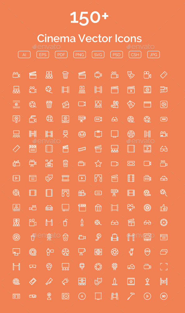 GraphicRiver 150& Cinema Vector Icons 11844271
