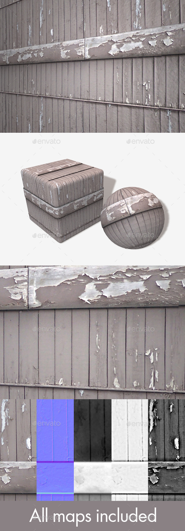 Rickety Wooden Building Seamless Texture - 3DOcean Item for Sale