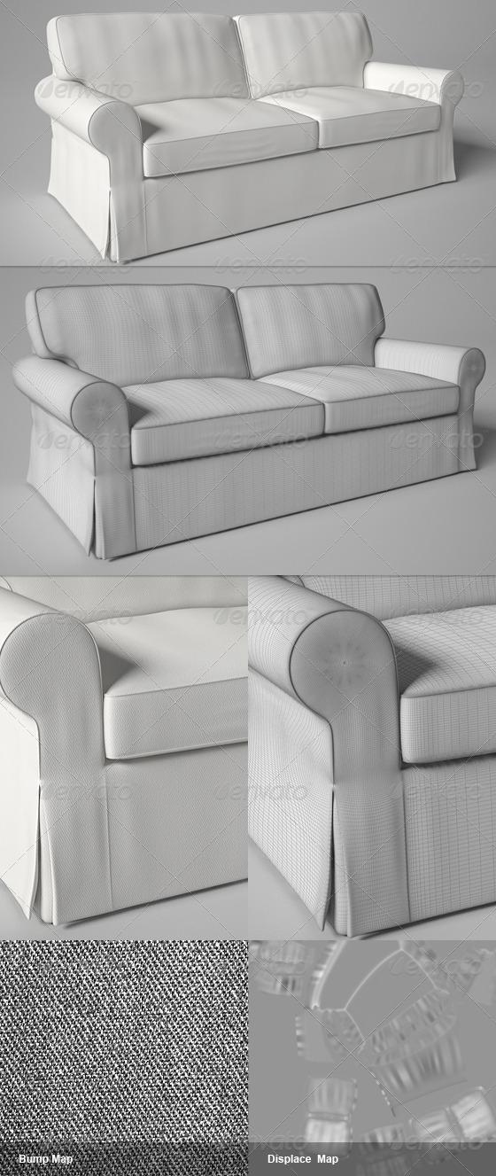 3DOcean Ektorp IKEA Sofa 145165