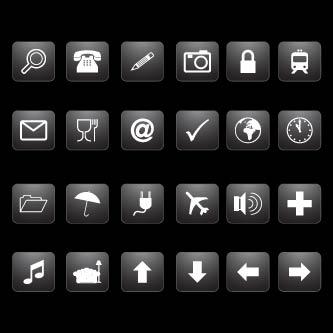 gradient black button - GraphicRiver Item for Sale