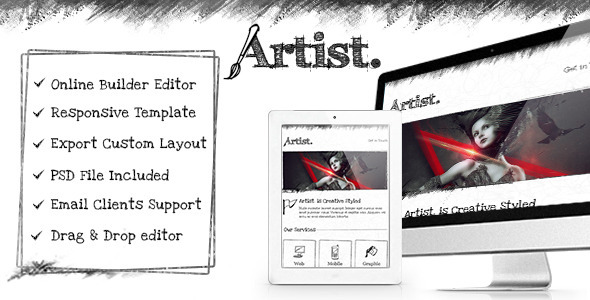 ThemeForest Artist Responsive Email Template & Builder Access 11844779
