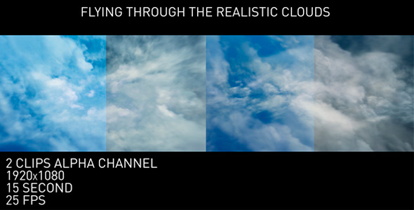 VideoHive Flying Through the Realistic Clouds 11734754