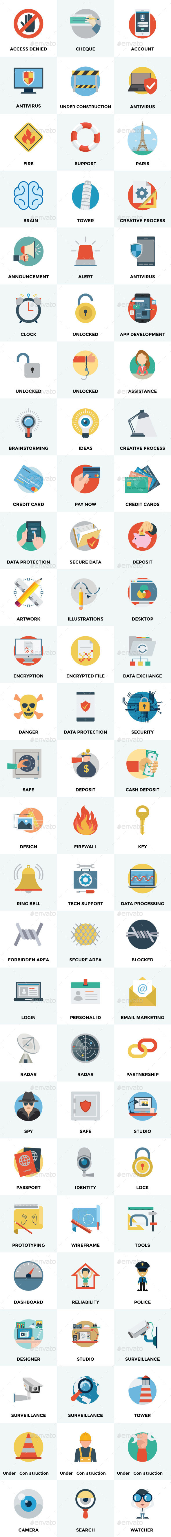 GraphicRiver 75& Flat Vector Icons 11845148