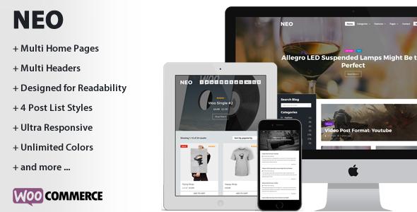 NEO - A Modern Personal WordPress Theme