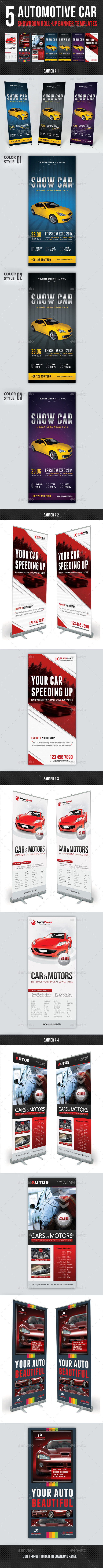 GraphicRiver 5 in 1 Automotive Car Showroom Banner Bundle 11844639