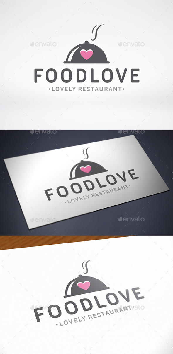 GraphicRiver Food Love Logo Template 11845274