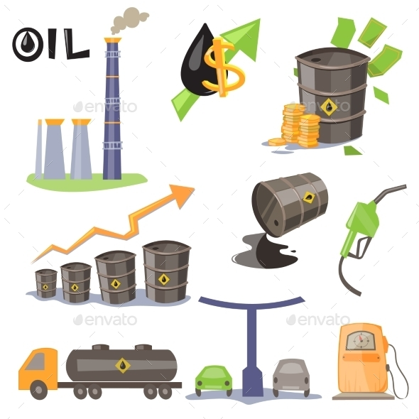 GraphicRiver Oil Production Infographic Elements Vector 11845451