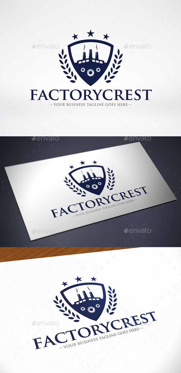 GraphicRiver Factory Crest Logo Template 11845509
