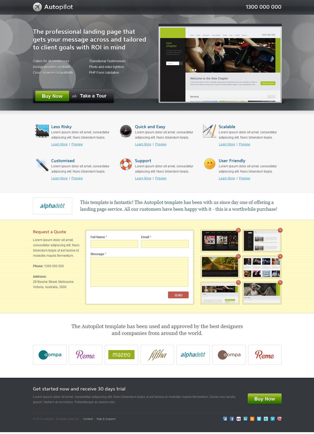 Autopilot Landing Page (3 Themes) - Screenshot 04 - Generic