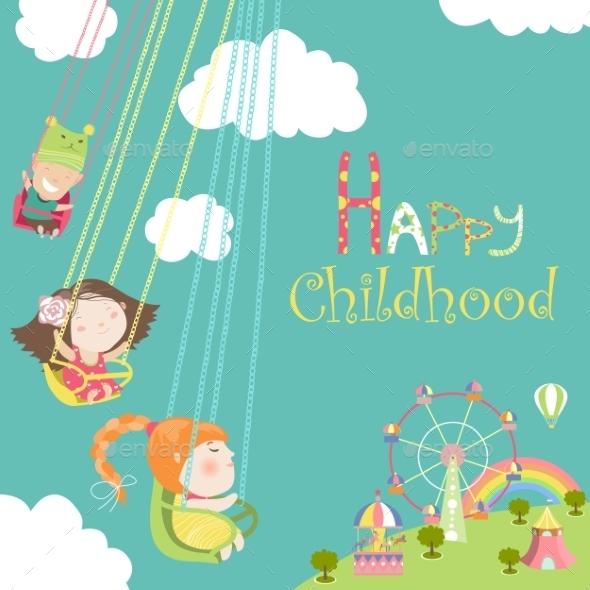 GraphicRiver Children Ride on Carousel 11845979