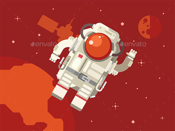 GraphicRiver Astronaut in Outer Space 11846246