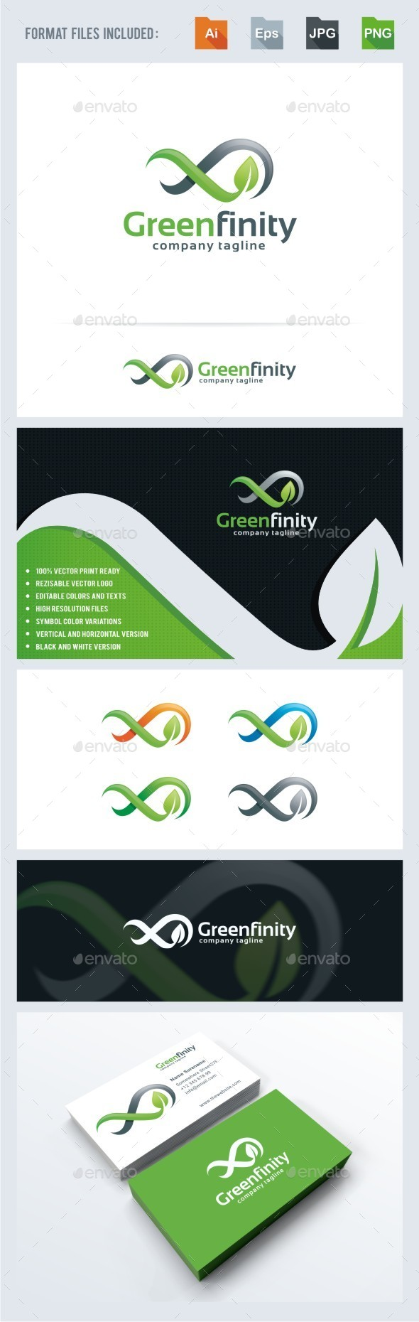 GraphicRiver Green Infinity Logo Template 11846297
