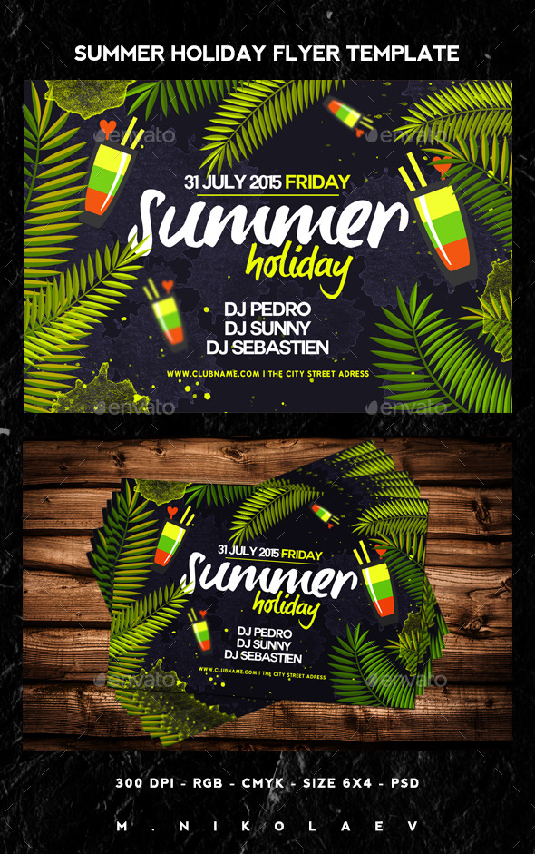 GraphicRiver Summer Holiday Flyer 11846347