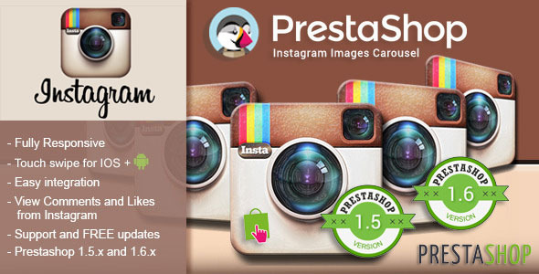 Responsive Instagram Carousel for Prestashop
