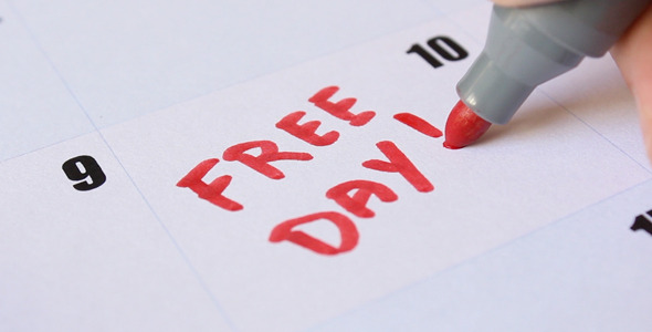 Free Day Written on Calendar