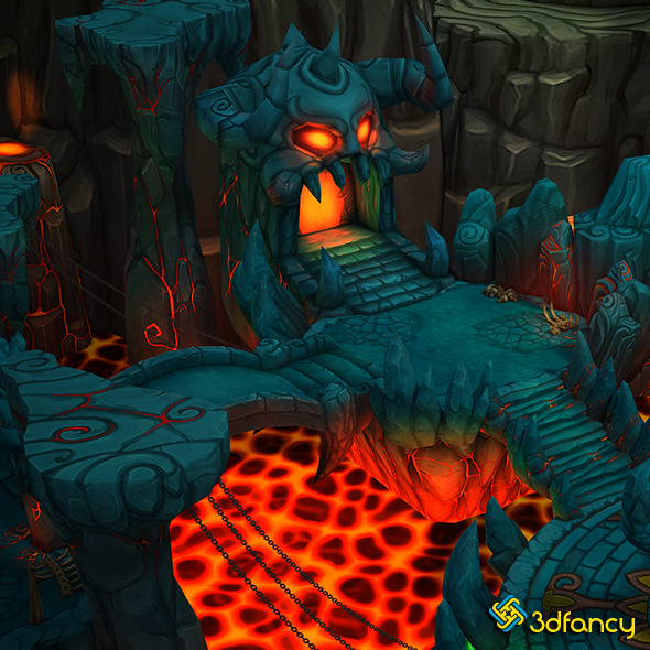 3DOcean Fantasy Demon Caves 11846495