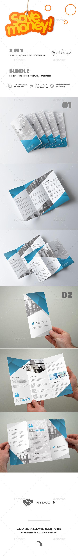 GraphicRiver 2 in 1 Creative Tri-Fold Brochure Bundle 11846496