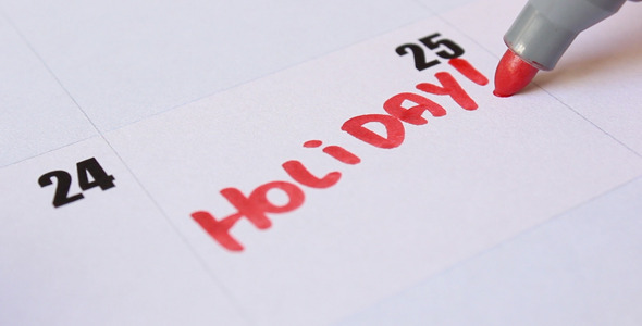 VideoHive Holiday Written on Calendar 11846497