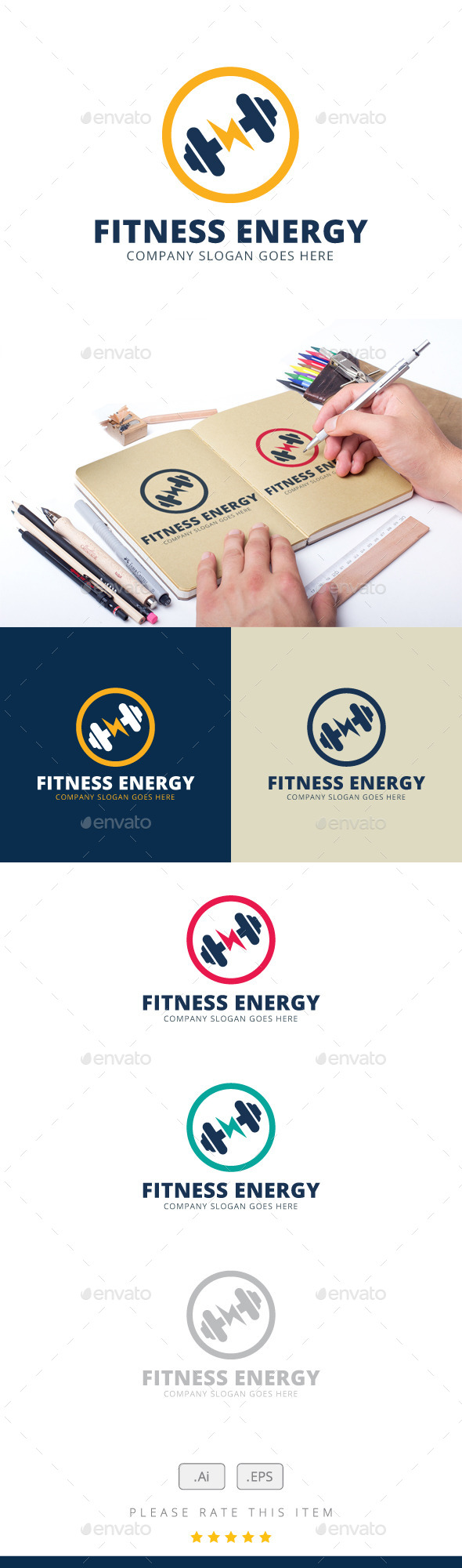 GraphicRiver Fitness Energy Logo 11846636