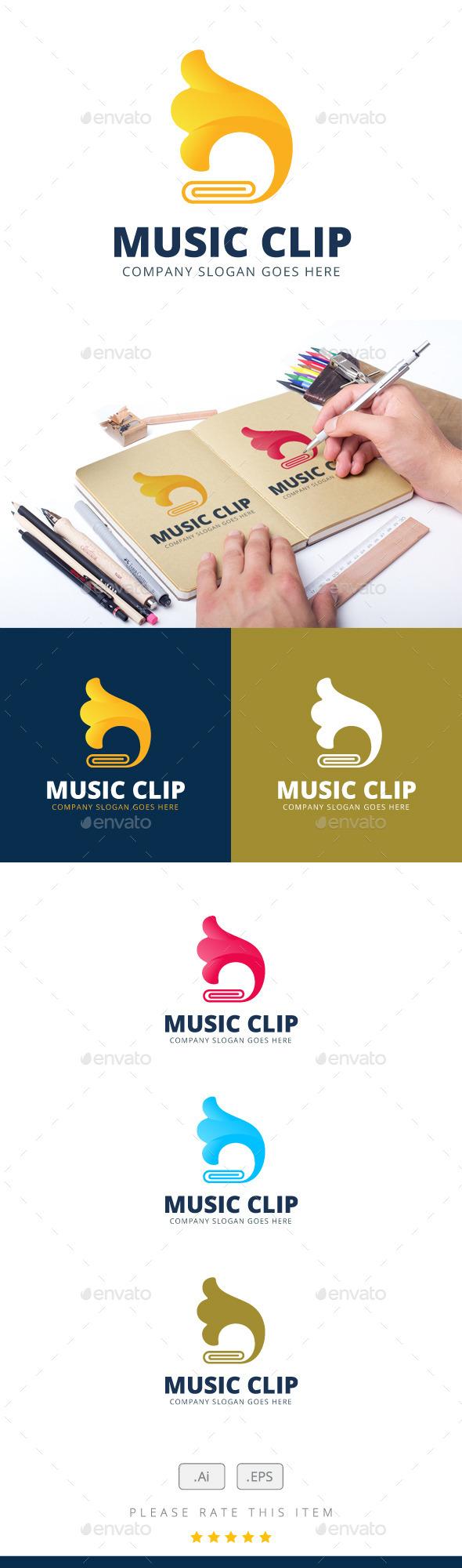 GraphicRiver Music Clip Logo 11846695