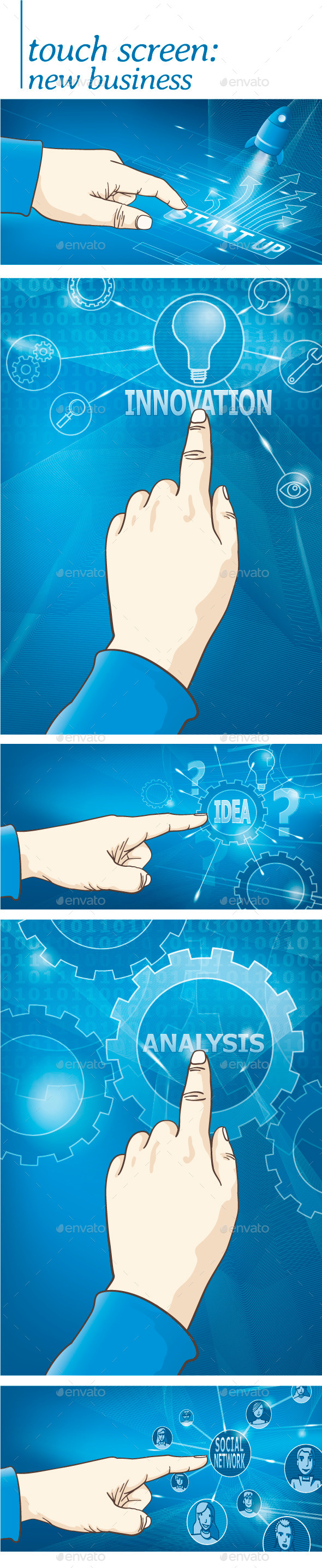 GraphicRiver Touch Screen New Business 11842663