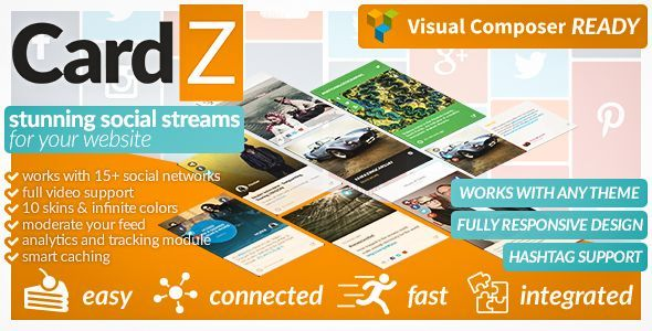 CodeCanyon CardZ Social Stream for WordPress 11847053