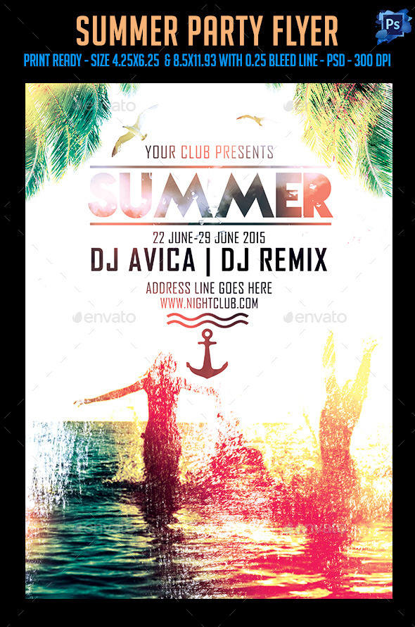 GraphicRiver Summer Party Flyer 11847083