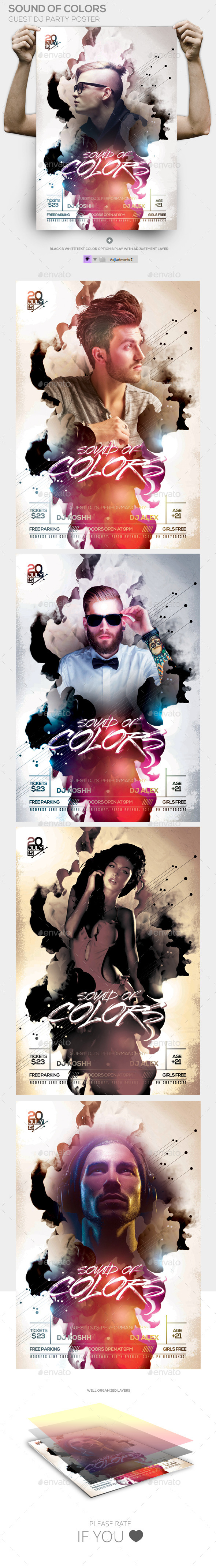 GraphicRiver Sound Of Colors Guest Dj Poster 11847184