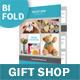 Gift Shop Bifold / Halffold Brochure - GraphicRiver Item for Sale