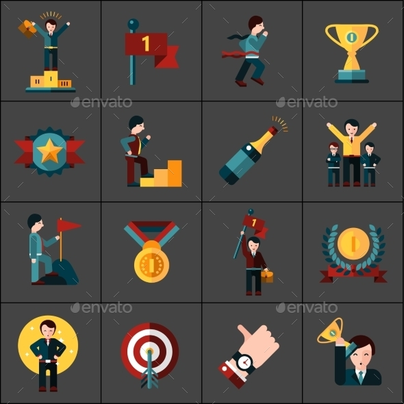 GraphicRiver Success Icons Set 11847332