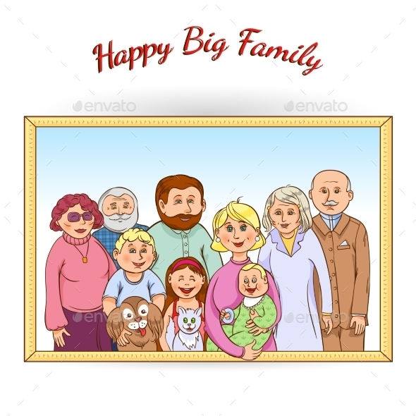 GraphicRiver Happy Family Framed Portrait 11847358