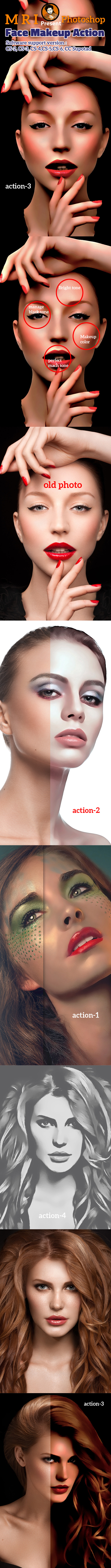 GraphicRiver Face Makeup Action 11847363