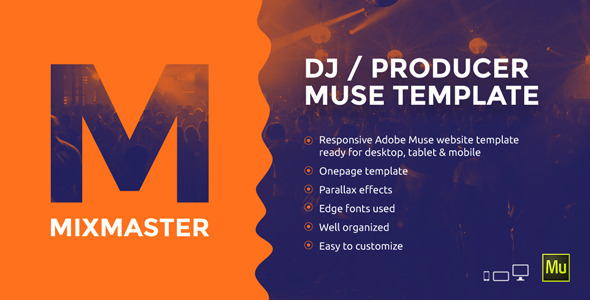 ThemeForest MixMaster DJ Producer Website Muse Template 11847390