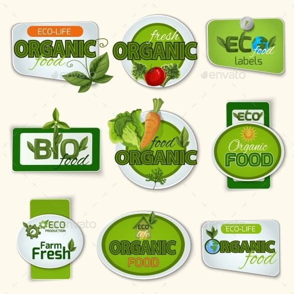 GraphicRiver Bio Organic Life Badges 11847467