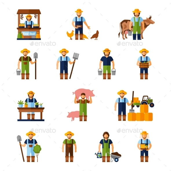 GraphicRiver Farmers Icons Set 11847539