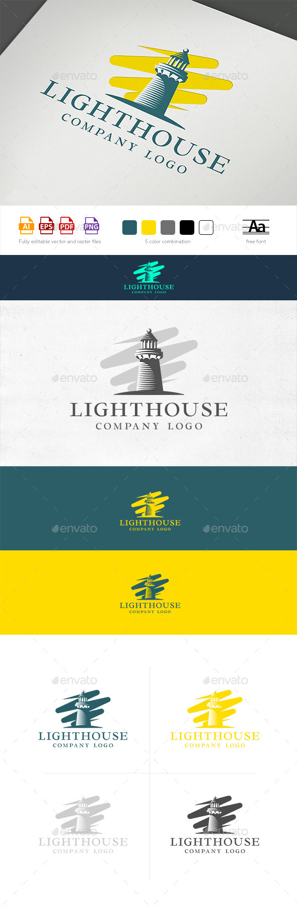 GraphicRiver Lighthouse Logo Template 11845947