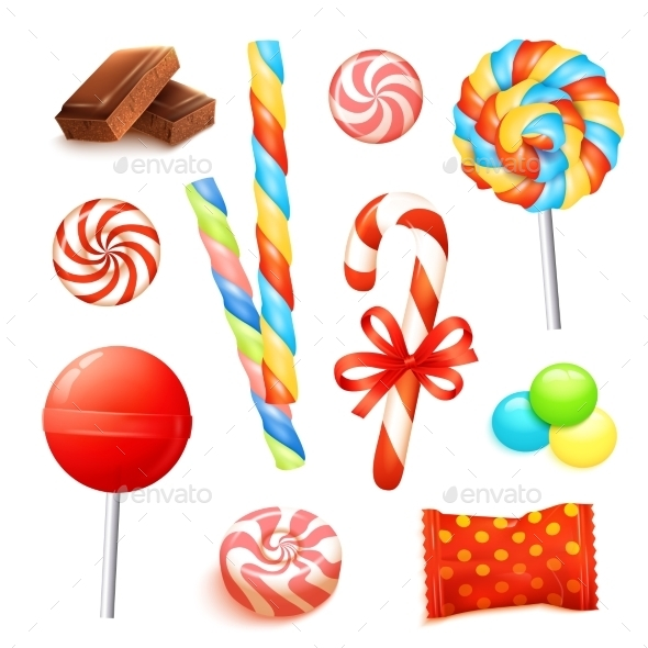 GraphicRiver Candy Realistic Set 11847556