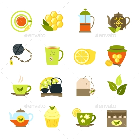 GraphicRiver Tea Icons Set 11847562