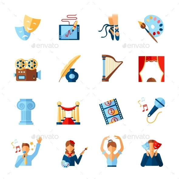 GraphicRiver Art And Culture Icons Set 11847568