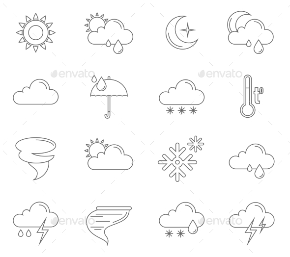 GraphicRiver Weather Icons Outline 11847601
