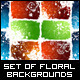 Set of Grungy Backgrounds with Flowers - GraphicRiver Item for Sale