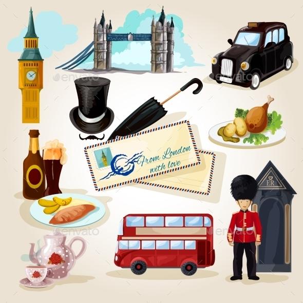 GraphicRiver London Touristic Set 11847643