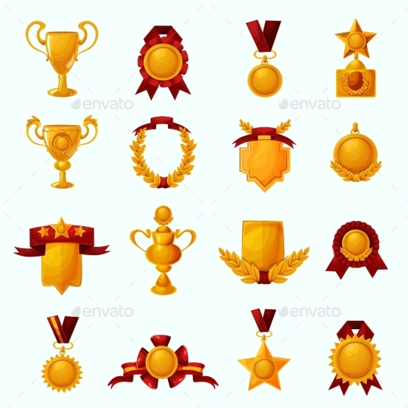 GraphicRiver Awards Cartoon Set 11847693