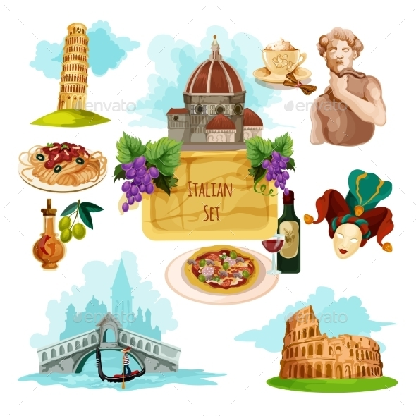 GraphicRiver Italy Touristic Set 11847697