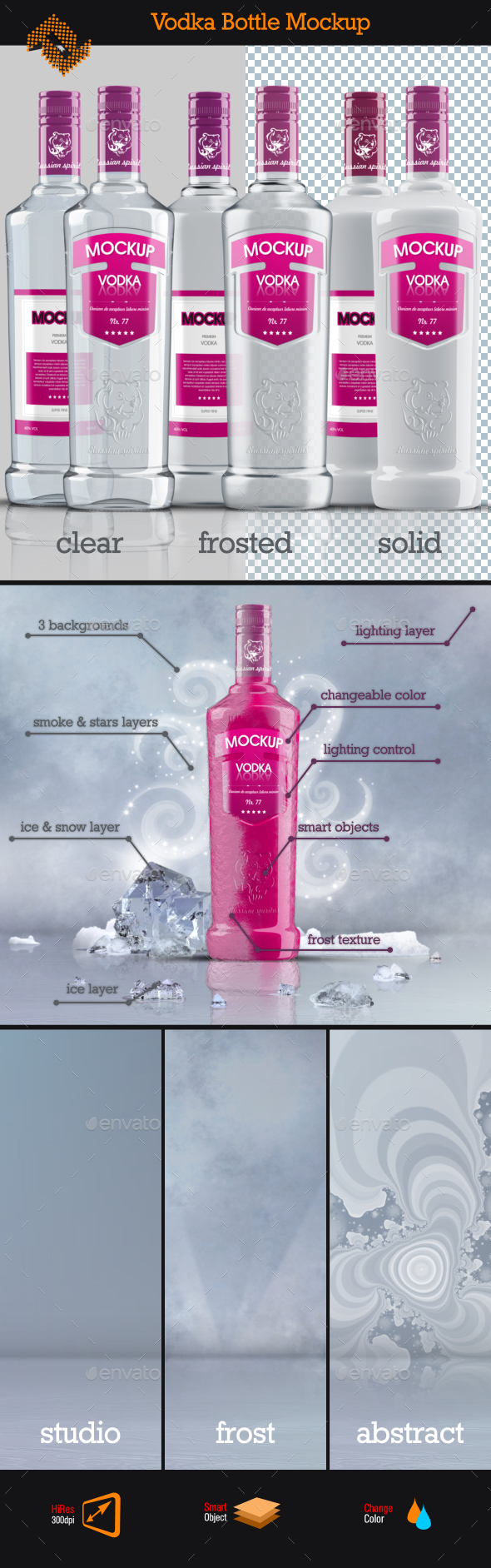GraphicRiver Vodka Bottle Mockup Vol 3 11847728