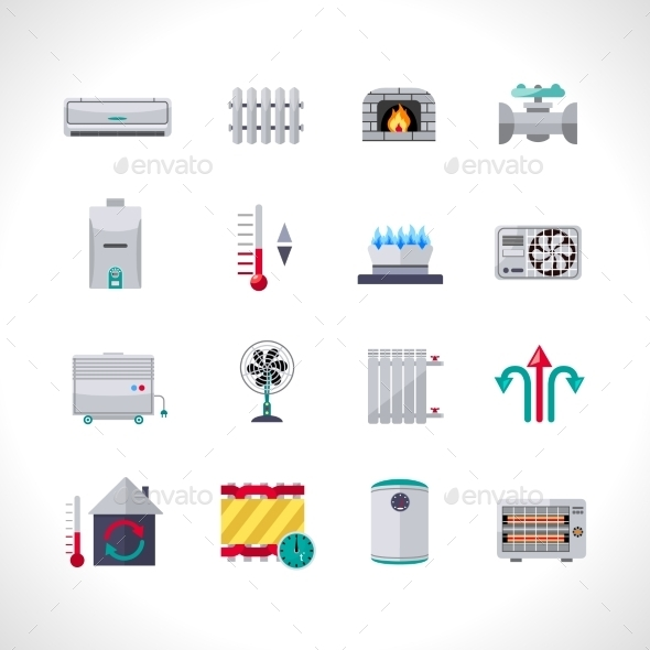 GraphicRiver Heating Icons Set 11848002