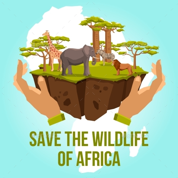 GraphicRiver Save the Wildlife of Africa Concept 11848038