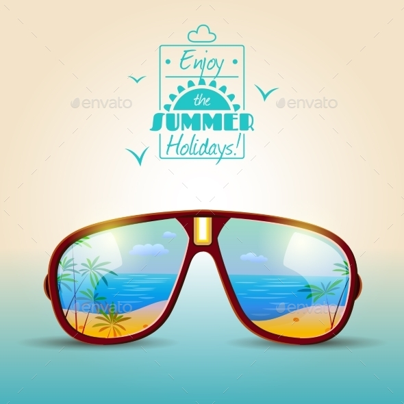 GraphicRiver Sunglasses Summer Poster 11848140