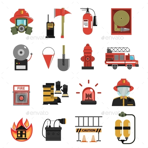 GraphicRiver Fire Icon Flat 11848214